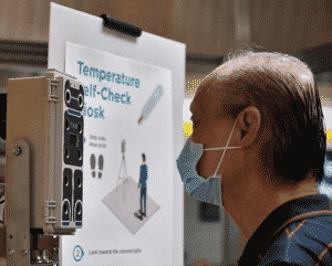 self-check temperature kiosk